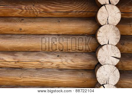 Part Of The Wall Of Wooden Frame Background