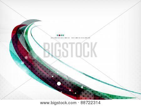 Blue purple design background, color wave template