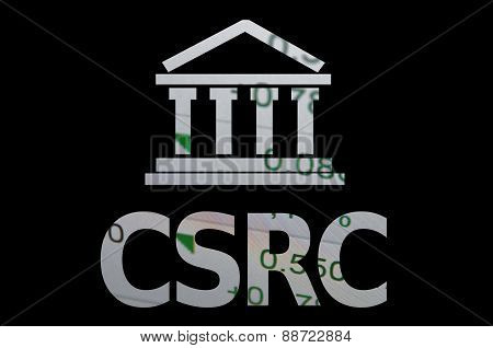 Building icon with inscription CSRC