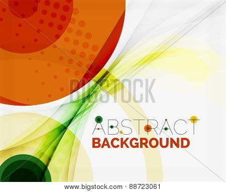 Corporate white background with gentle flowing waves. Vector business or technology universal layout