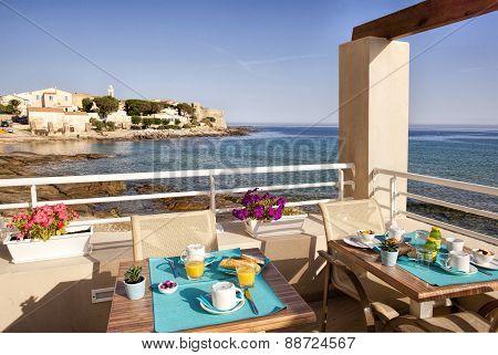 Breakfast On A Blue Sea