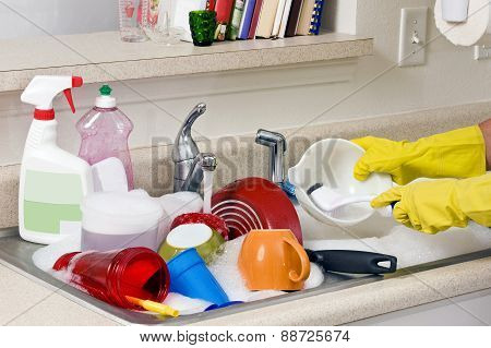 Washing Dirty Dishes