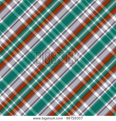 Diagonal Tartan Seamless Texture In Red Different Hues