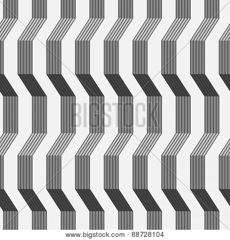 Gray Ornament With Warping Stripes Shaded