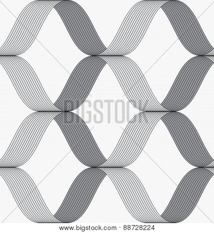 Ribbons Forming Grid Pattern