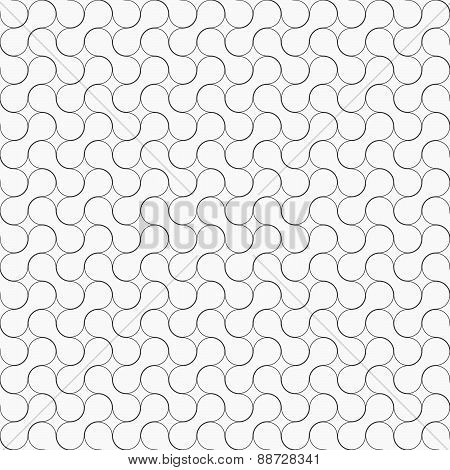 Slim Gray Rounded Shapes Ornament