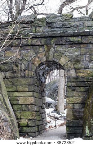 Ramble Stone Arch In Central Park