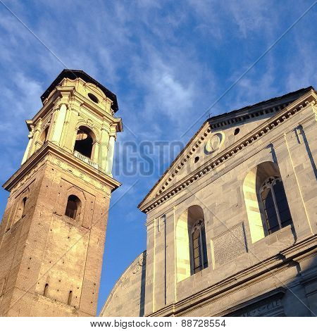 View of the Turin Cathedral and Tower Bell