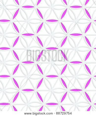 3D Colored Pink Hexagonal Grid