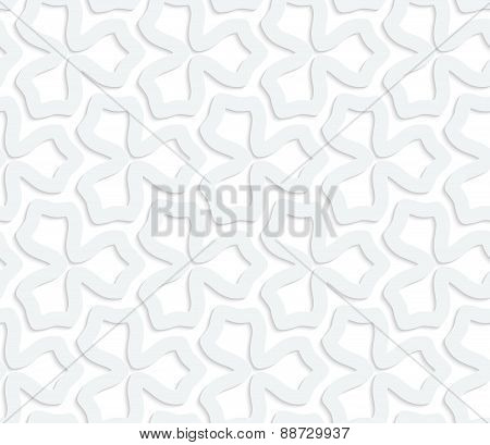 3D White Abstract Three Pedal Flower