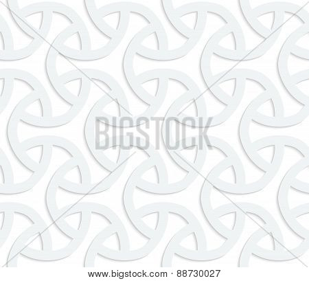 3D White Rounded Three Ray Shapes