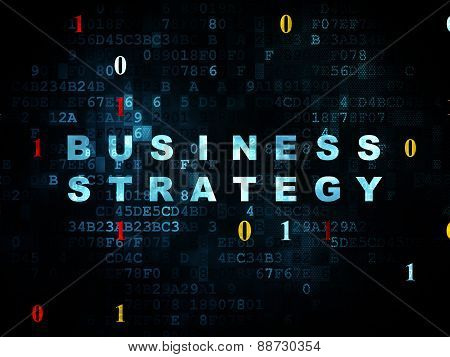 Finance concept: Business Strategy on Digital background