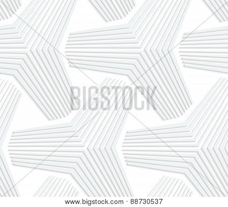 3D White Triangular Stars