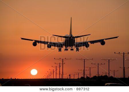 Puesta de sol Jet Landing 3