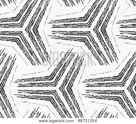 Monochrome Rough Striped Big Tetrapods