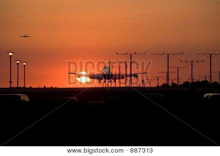Sunset Jet Landing 4