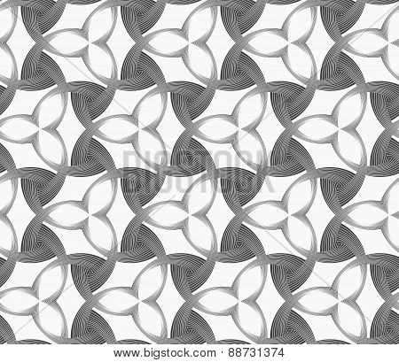 Monochrome Three Pedal Flowers With Dark Triangles