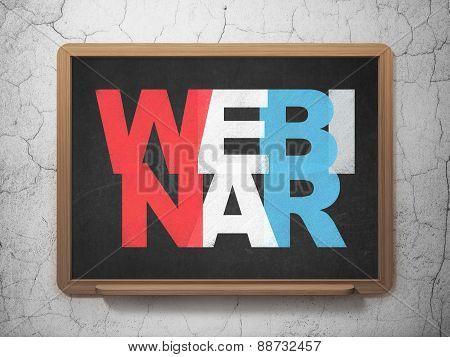 Education concept: Webinar on School Board background