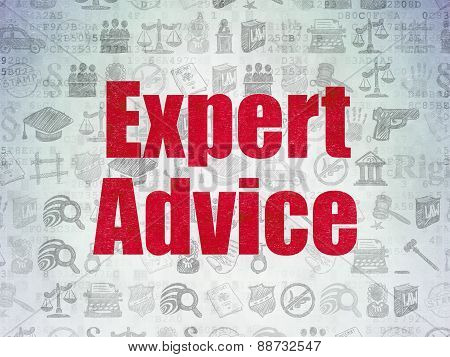Law concept: Expert Advice on Digital Paper background