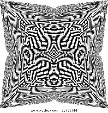 Black And White Pyramid Pattern Vector