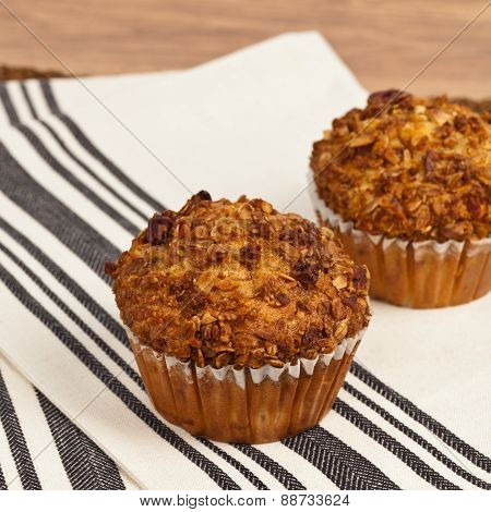 Peach and Granola Breakfast Muffins