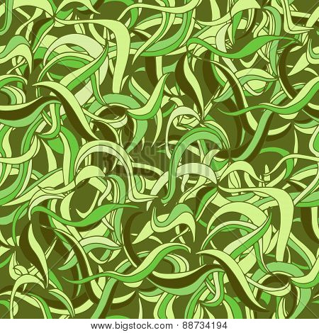 Seamless abstract grass pattern