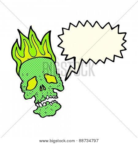 cartoon skull with speech bubble