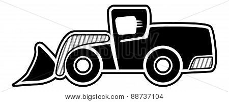 Front Wheel Loader Icon