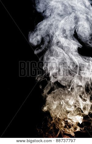 Smoke with yellow and white color