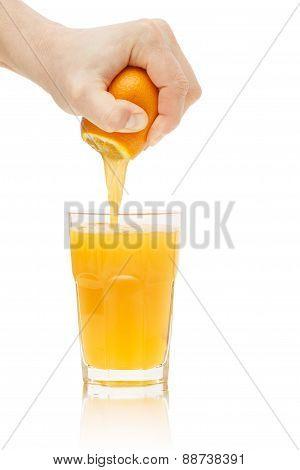 Hand Squeezes Juice