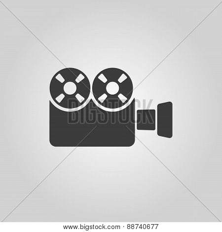 The Video Camera Icon. Camcorder Symbol. Flat