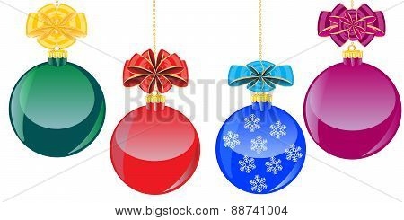 Color Balls With Bow