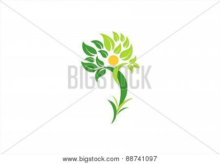 tree, plant, people, health, logo, wellness, human, nature, design vector