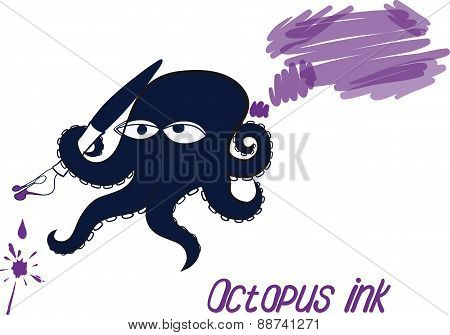 Octopus and ink