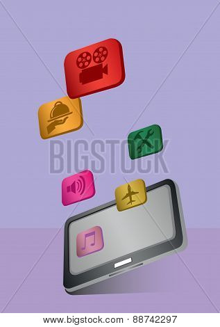 App Icons And Tablet Computer