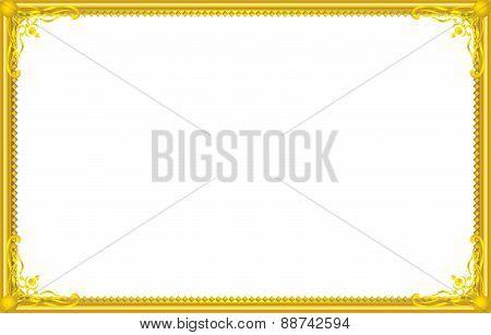 Gold Frame Floral