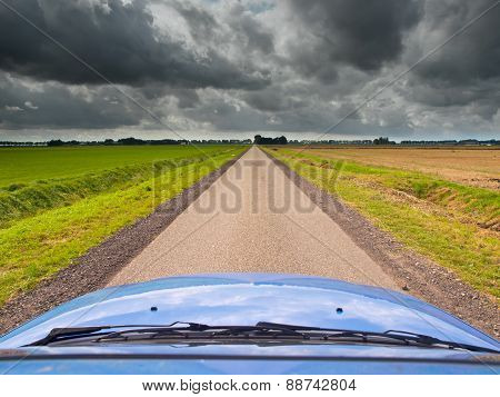 Straight Road Under Brooding Sky