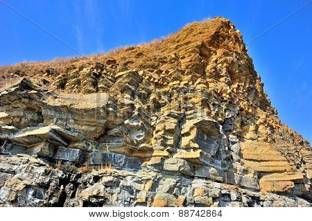 Yellow Cliff Of Sandstone
