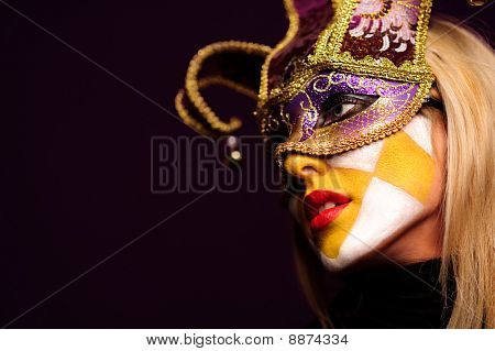 Sexy Woman In Party Mask