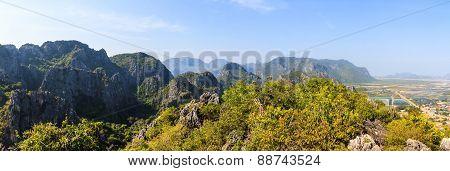 Panorama Of Khao Dang Viewpoint, Samroiyod National Park.