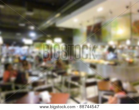Blurry Defocused Image Of Canteen