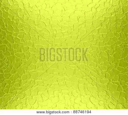 Acid green metallic metal texture background