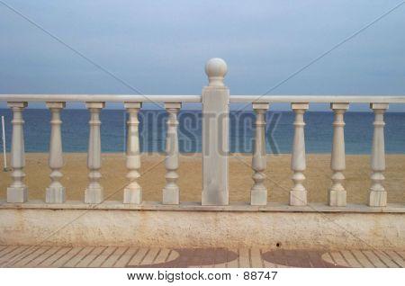 Spanish Marble Boardwalk Rail