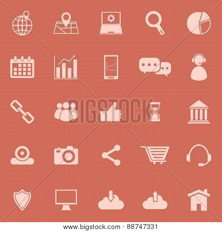 Seo Color Icons On Orange Background