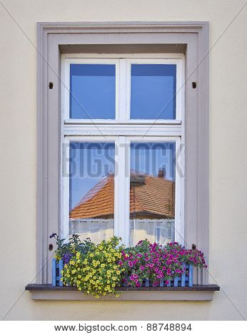 home window and flowers, Bamberg Germany