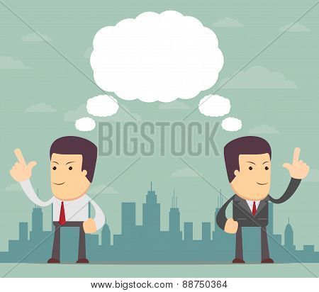 Businessmen thinking. Vector