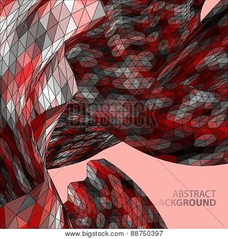Polygonal Mosaic Abstract Vector Illustration Background On The