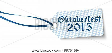 Hangtag With Text Oktoberfest 2015