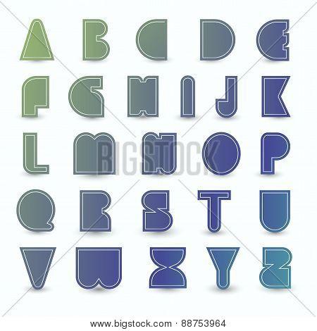 Set Of Alphabet.