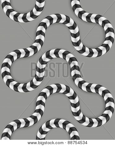 Zig Zag Stripes, Optical Illusion, Vector Seamless Pattern. Some